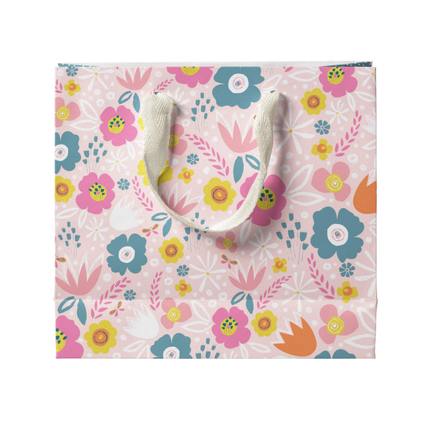 Peach Flowers Gift Bag Large
