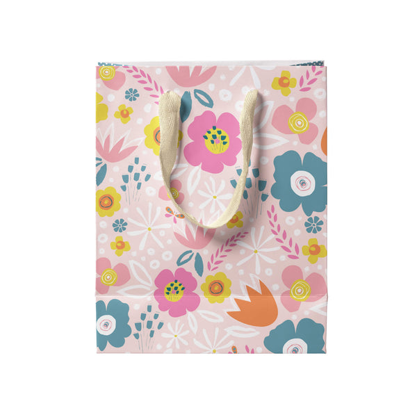 Peach Flowers Gift Bag Small