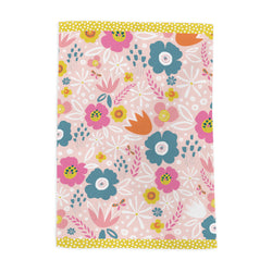 Peach Flowers Tea Towel