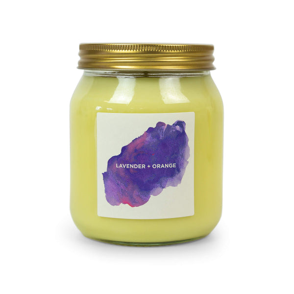 Lavender & Orange Aromatherapy Candle