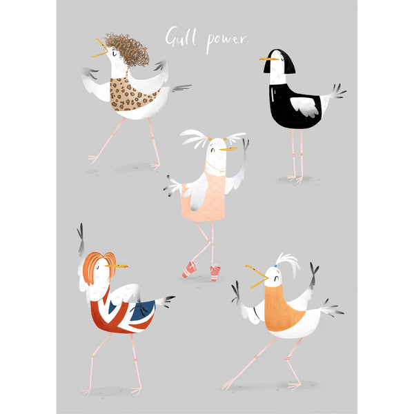 Gull Power Art Print