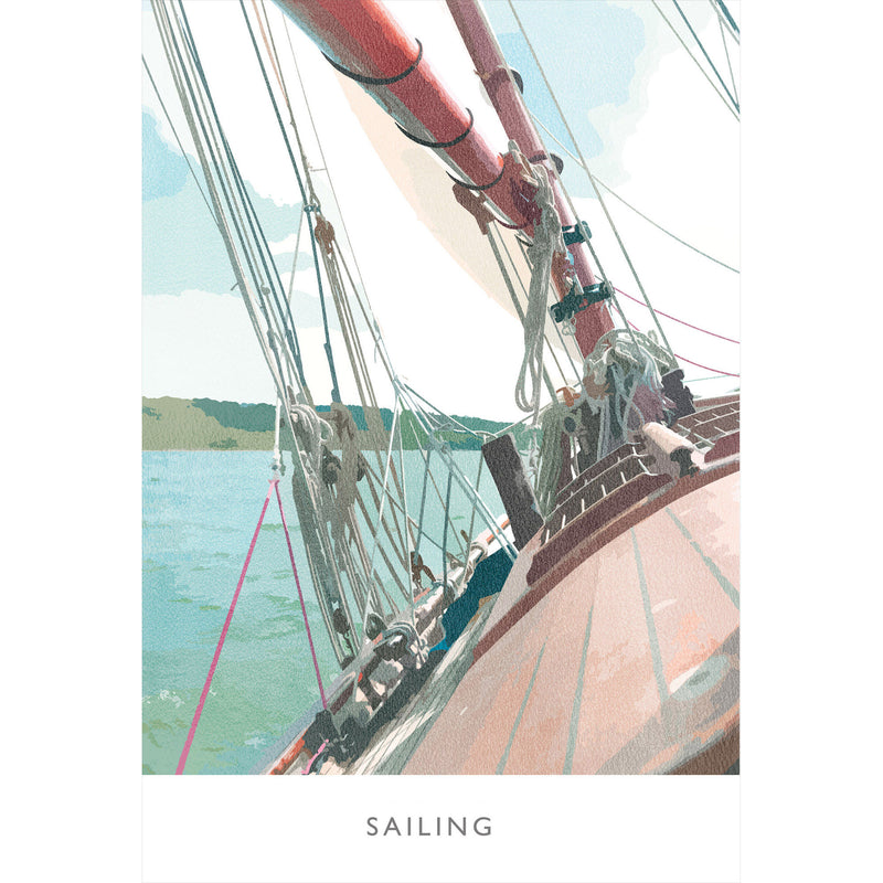 Sailing Large Art Print