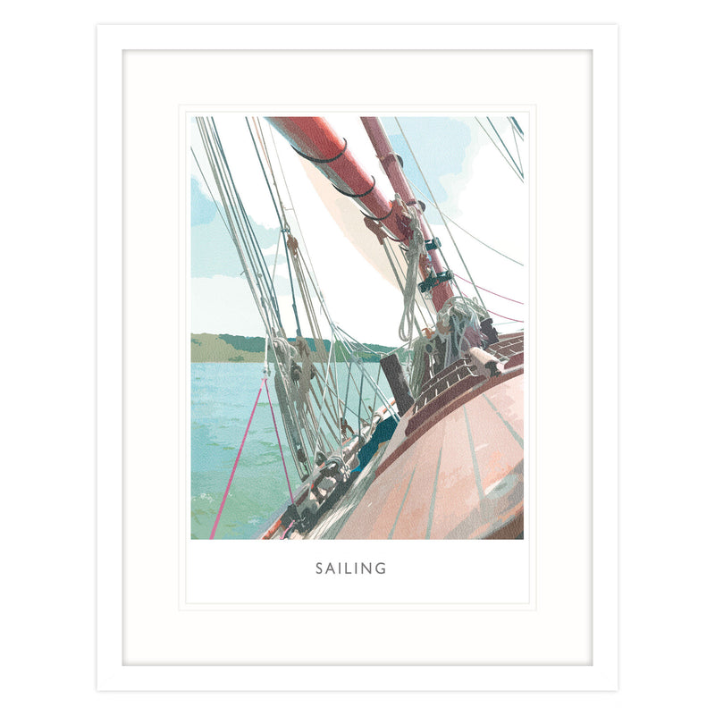 Sailing Large Framed Print