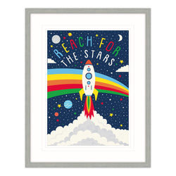 Shoot For The Stars Framed Print for Children