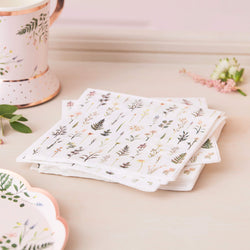 Afternoon Tea Floral Napkins