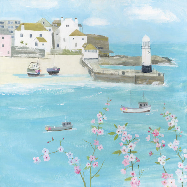 Flowers Above St Ives Card