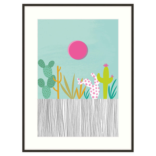 Cactus in the Sun Framed Print