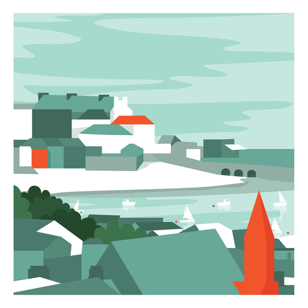 St Ives Block Art Print