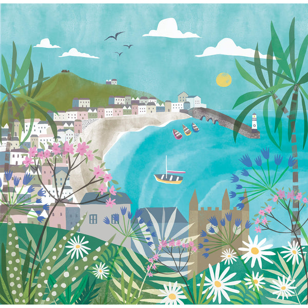 St Ives Watercolour Small Art Print