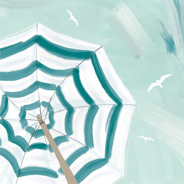 St Ives Umbrella Art Print