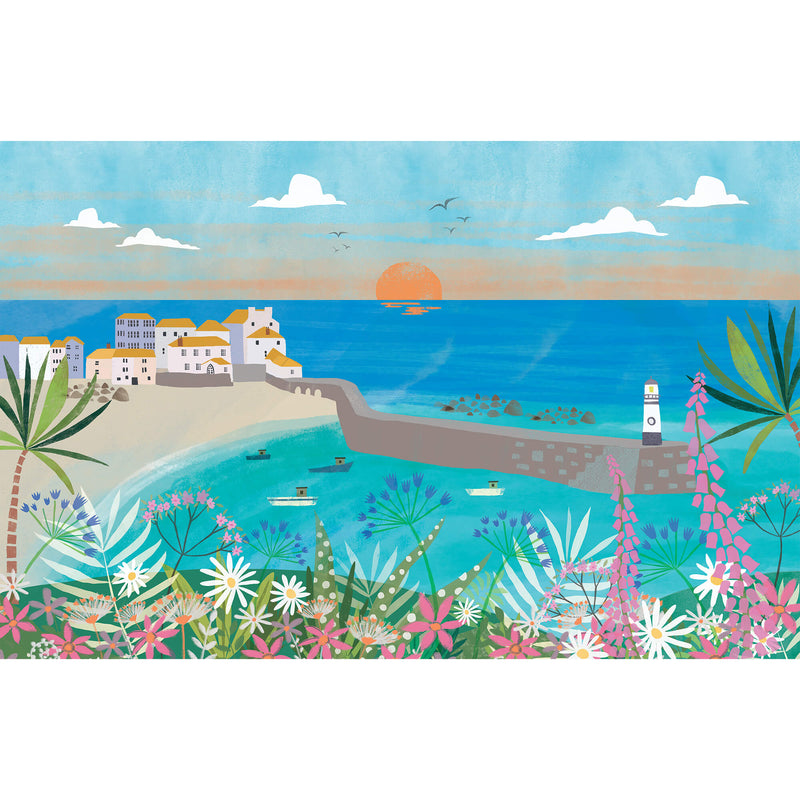 St Ives Collage Art Print