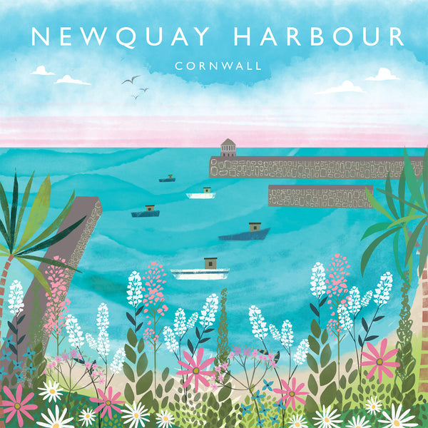 Newquay Harbour Cornwall Art Print