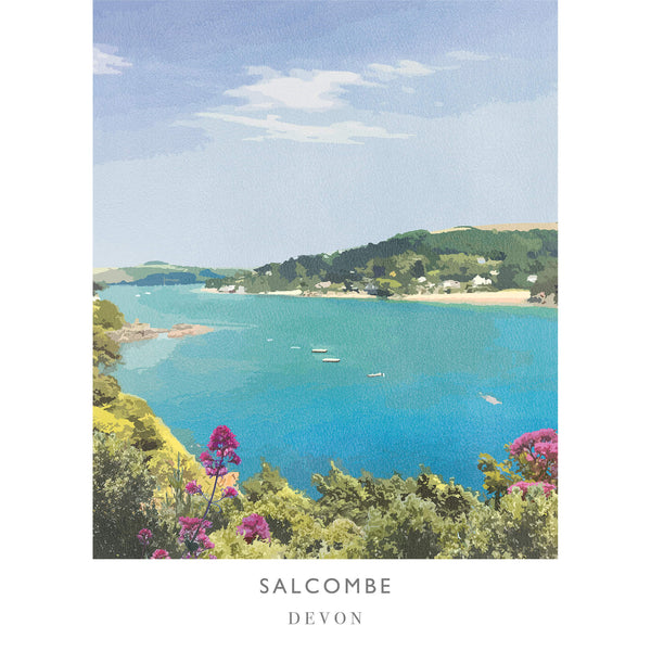 Salcombe Devon 2 Travel Art Print