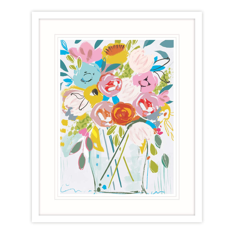 Sunshine Flowers Framed Print