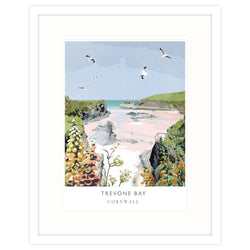Trevone Bay Framed Print