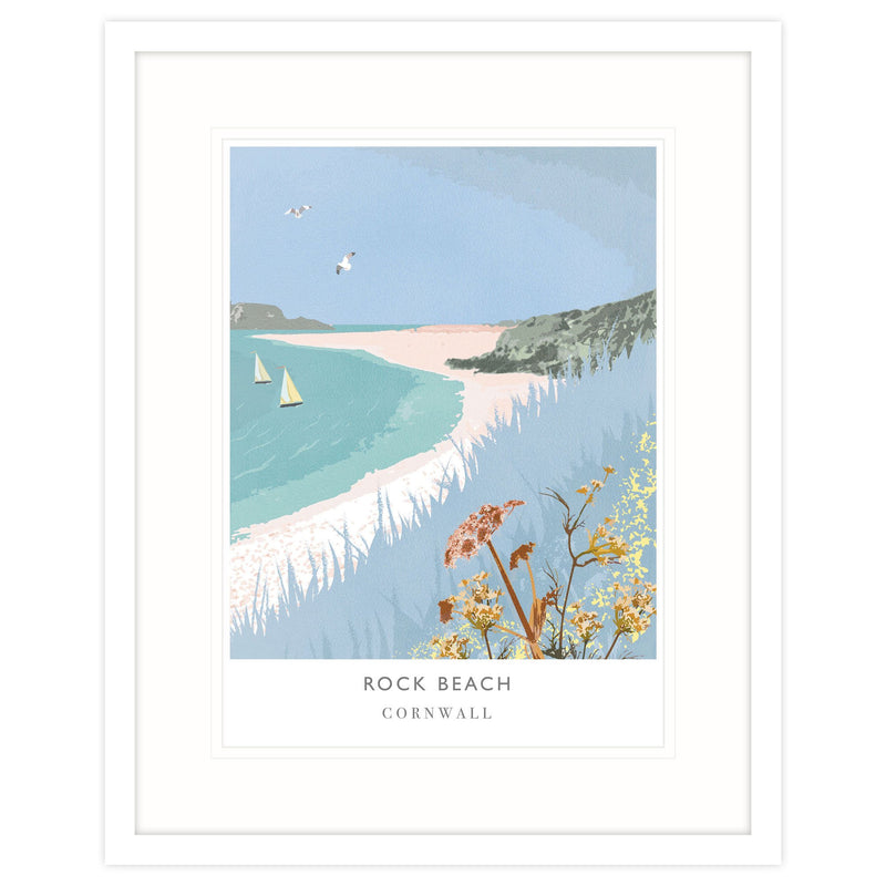 Rock Beach Framed Print