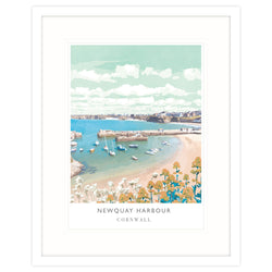Newquay Harbour Framed Print