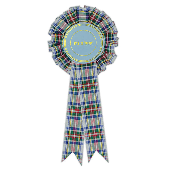 Tartan It's a Boy Clip Rosette