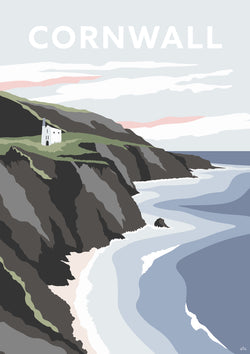 Cornwall Tin Mine Small Art Print