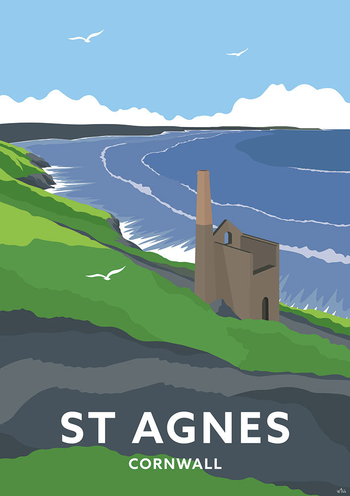 St Agnes Travel Art Print
