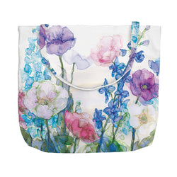 Pale Poppies and Delphiniums Tote Bag