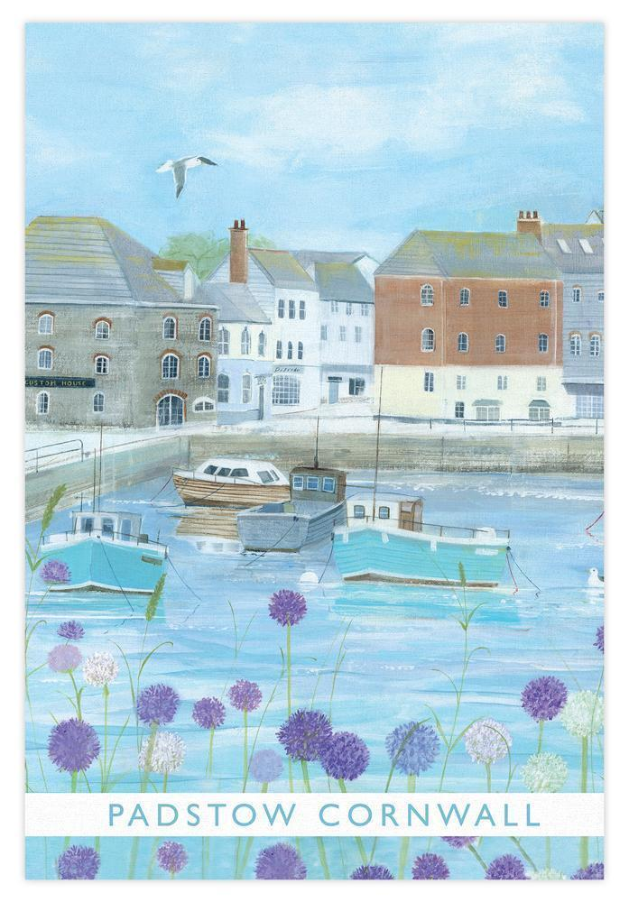 Padstow Cornwall Coastal Tea Towel