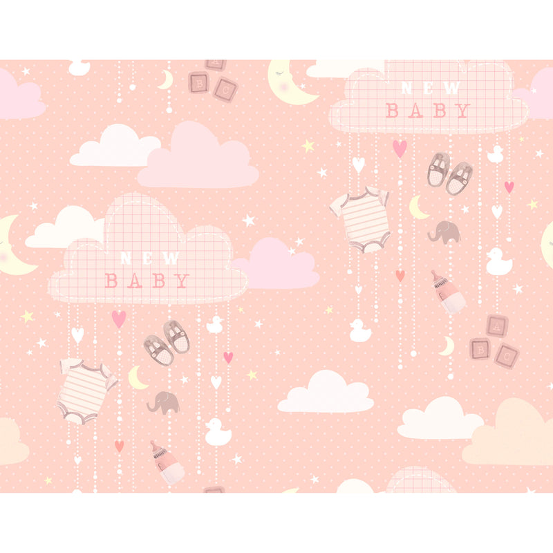 New Baby Pink Wrapping Paper