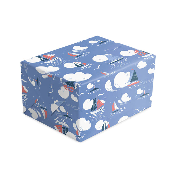 Deep Blue Sailing Wrapping Paper
