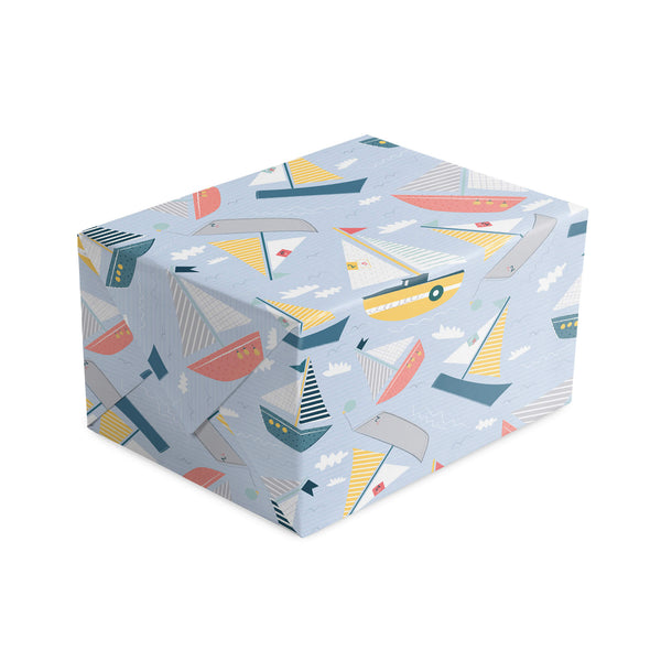 Sail Boats Sailing Wrapping Paper