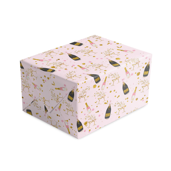 Prosecco All Around Foiled Wrapping Paper