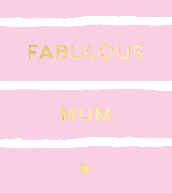 Fabulous Mum Foiled Tag
