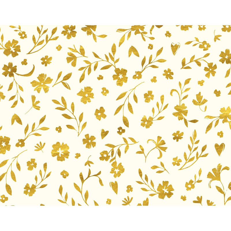 Gold Leaf Foiled Wrapping Paper
