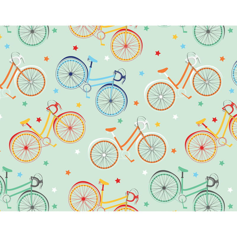 Colourful Bicycles Wrapping Paper