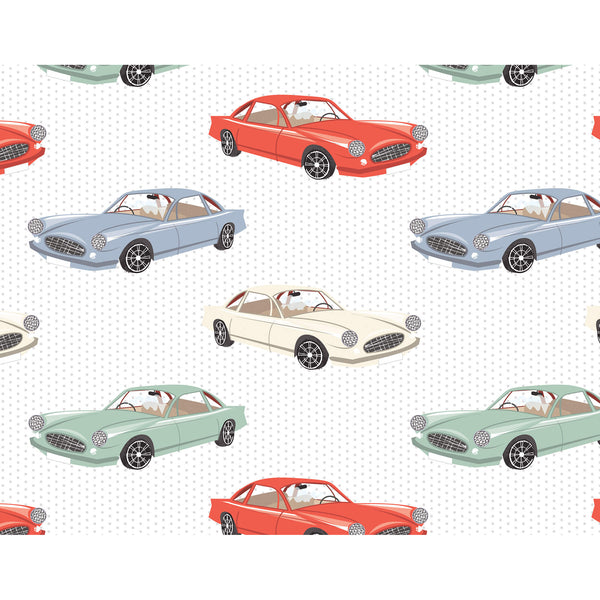Retro Cars Wrapping Paper