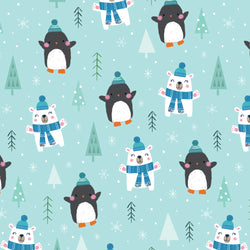 Happy Penguins Christmas Wrapping Paper