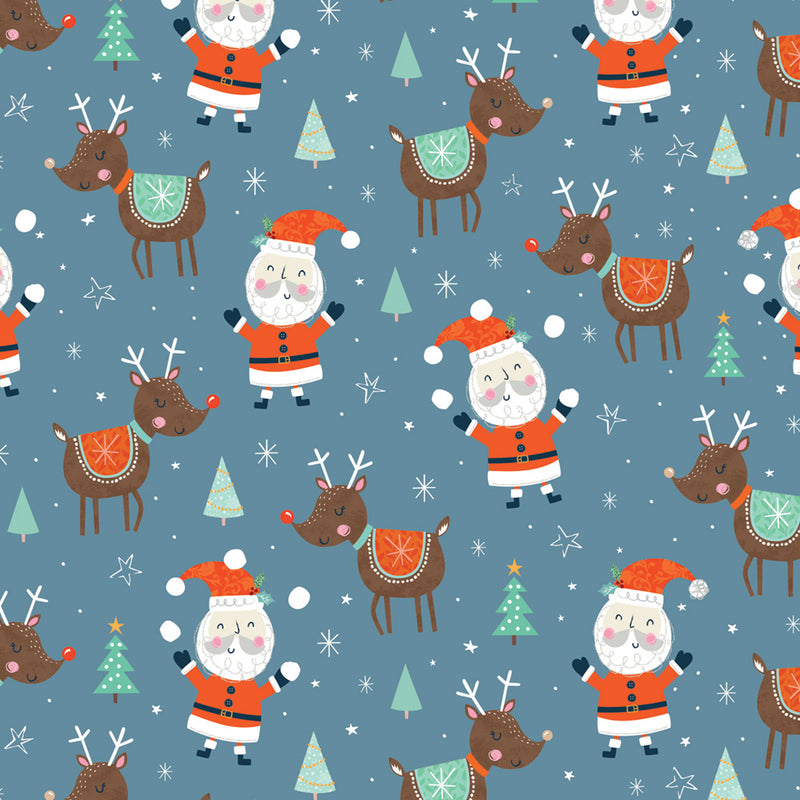 Santa & Friends Christmas Wrapping Paper