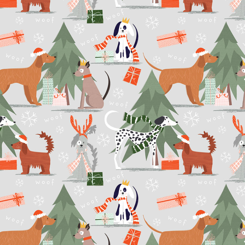 Canine Presents Christmas Wrapping Paper