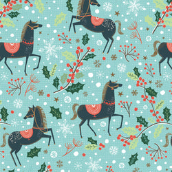 Festive Horses Christmas Wrapping Paper