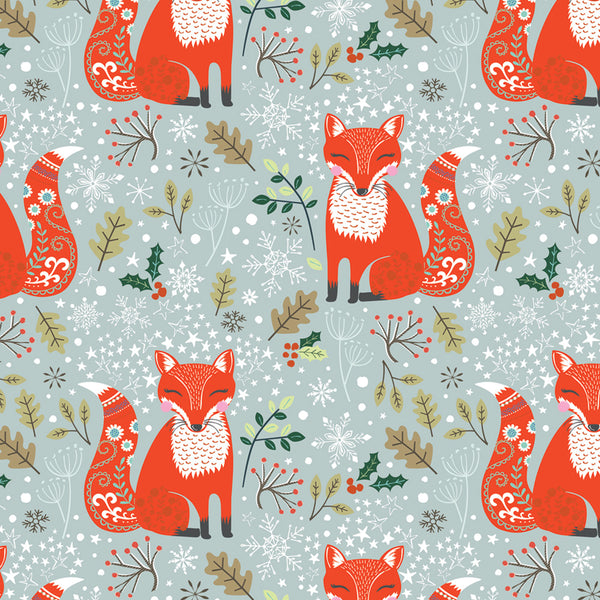 Happy Fox Christmas Wrapping Paper