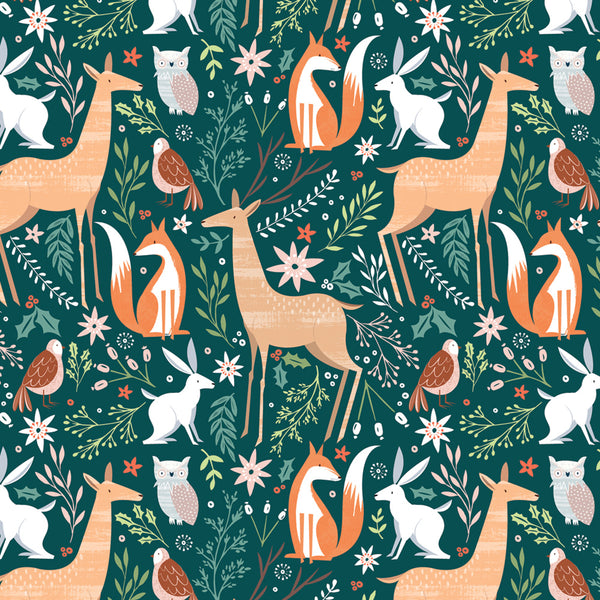 Festive Friends Christmas Wrapping Paper