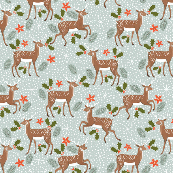 Reindeer in the Snow Christmas Wrapping Paper