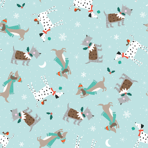 Festive Dogs Christmas Wrapping Paper