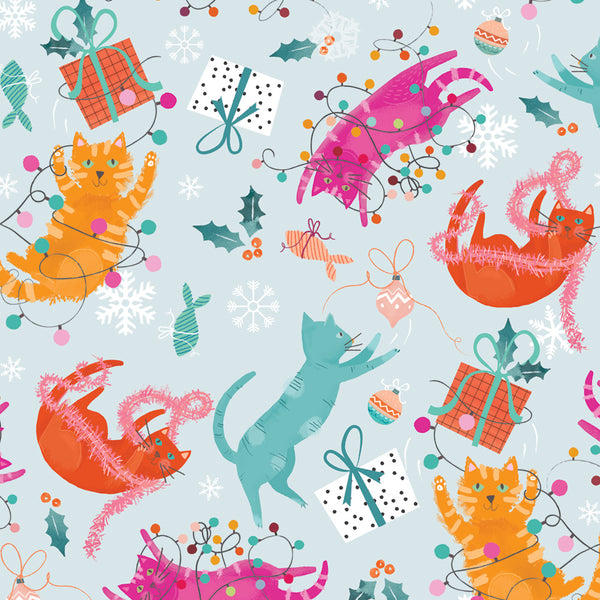 Playful Cats Christmas Wrapping Paper