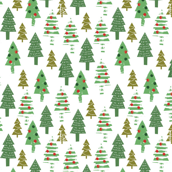 Decorated Trees Christmas Wrapping Paper