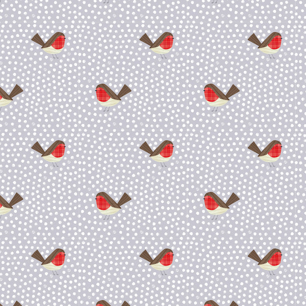 Robin Polka Dot Christmas Wrapping Paper