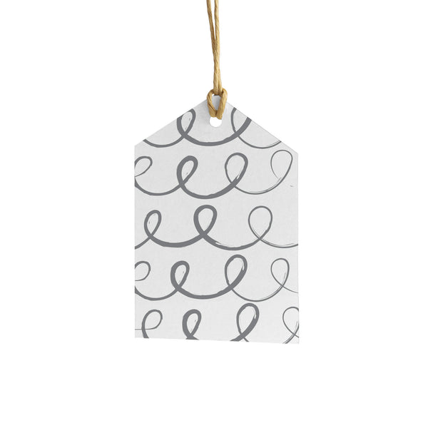 Swirls Wrapping Paper Tag