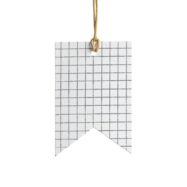 Grid Wrapping Paper Tag