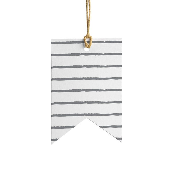 Stripes Wrapping Paper Tag