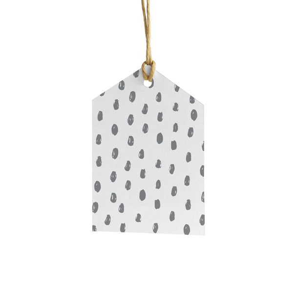 Polka Dot Wrapping Paper Tag