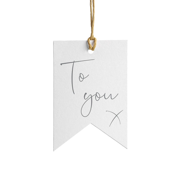 To You Wrapping Paper Tag